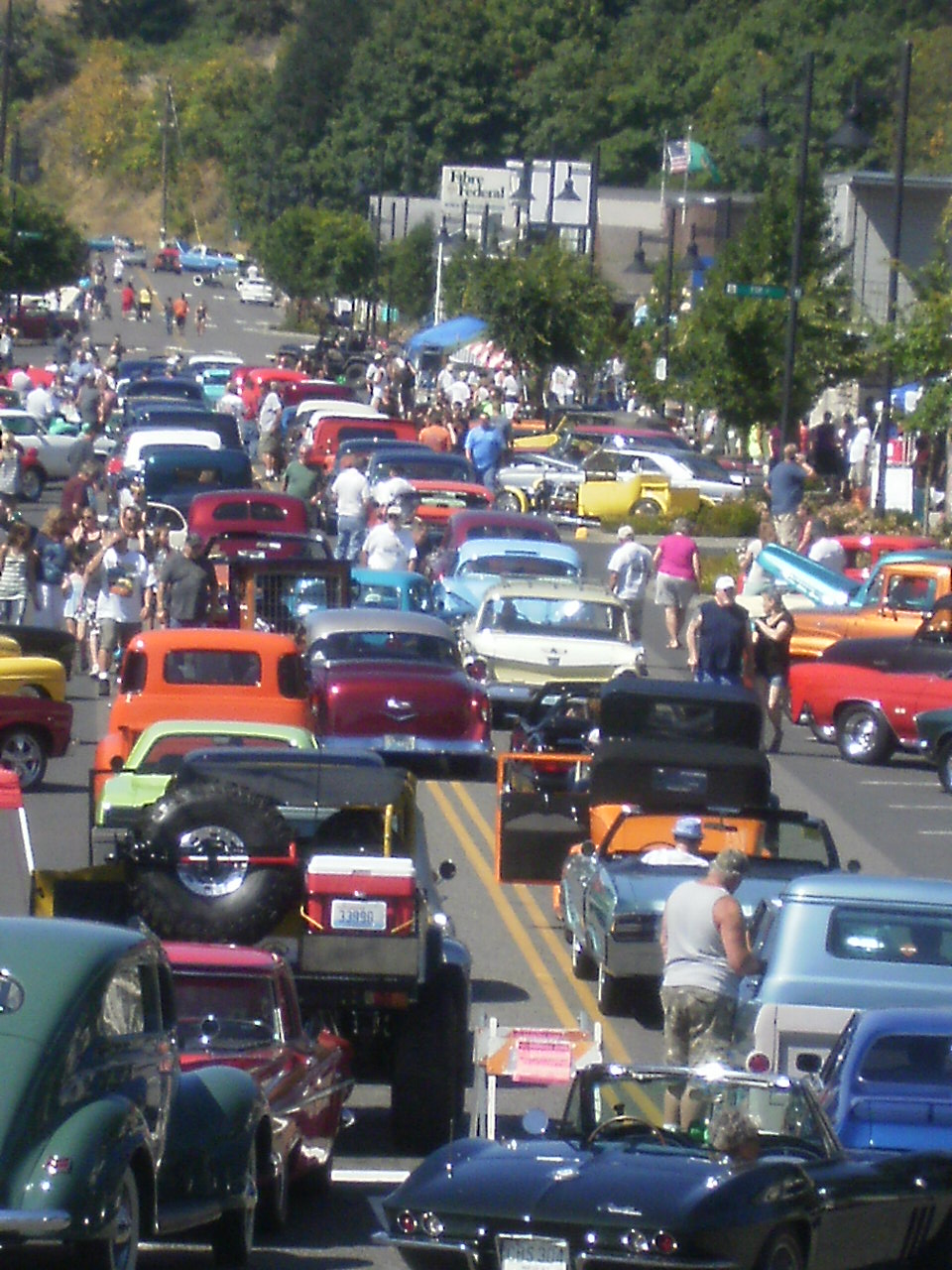 View of Parade - Car Show - August 17, 2014